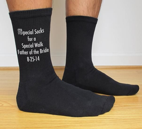Custom Digitally Printed Wedding Party Socks For Men  Minimum 3 Pairs  Wedding The father and