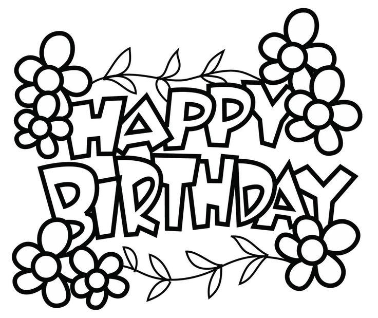 25+ best ideas about Happy Birthday Printable on Pinterest