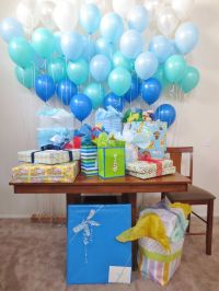 Balloon wall baby shower decorations | Baby Showers ...