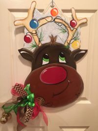 290 best images about painted reindeer on Pinterest ...