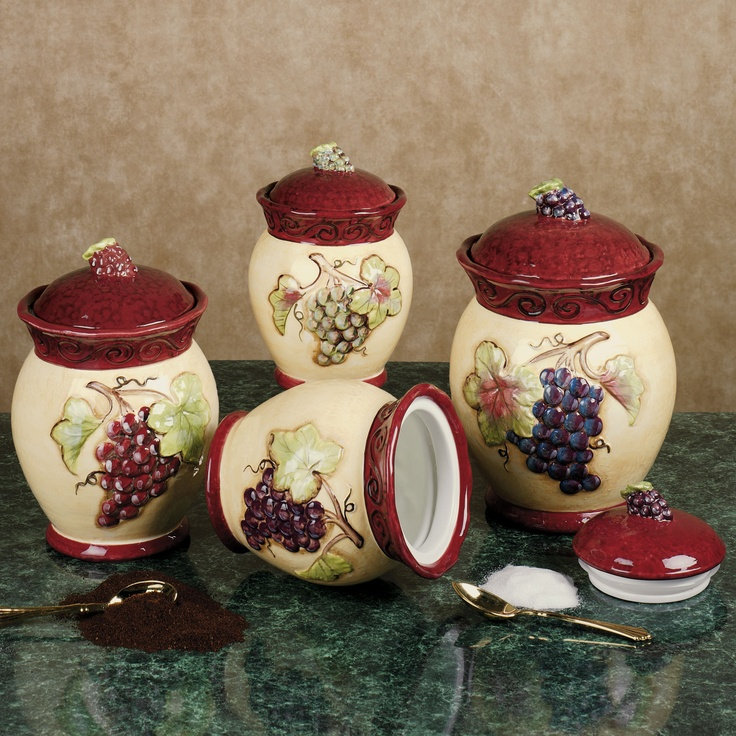 tuscan kitchen canisters nice modern kitchens 17 best images about style decor on pinterest ...