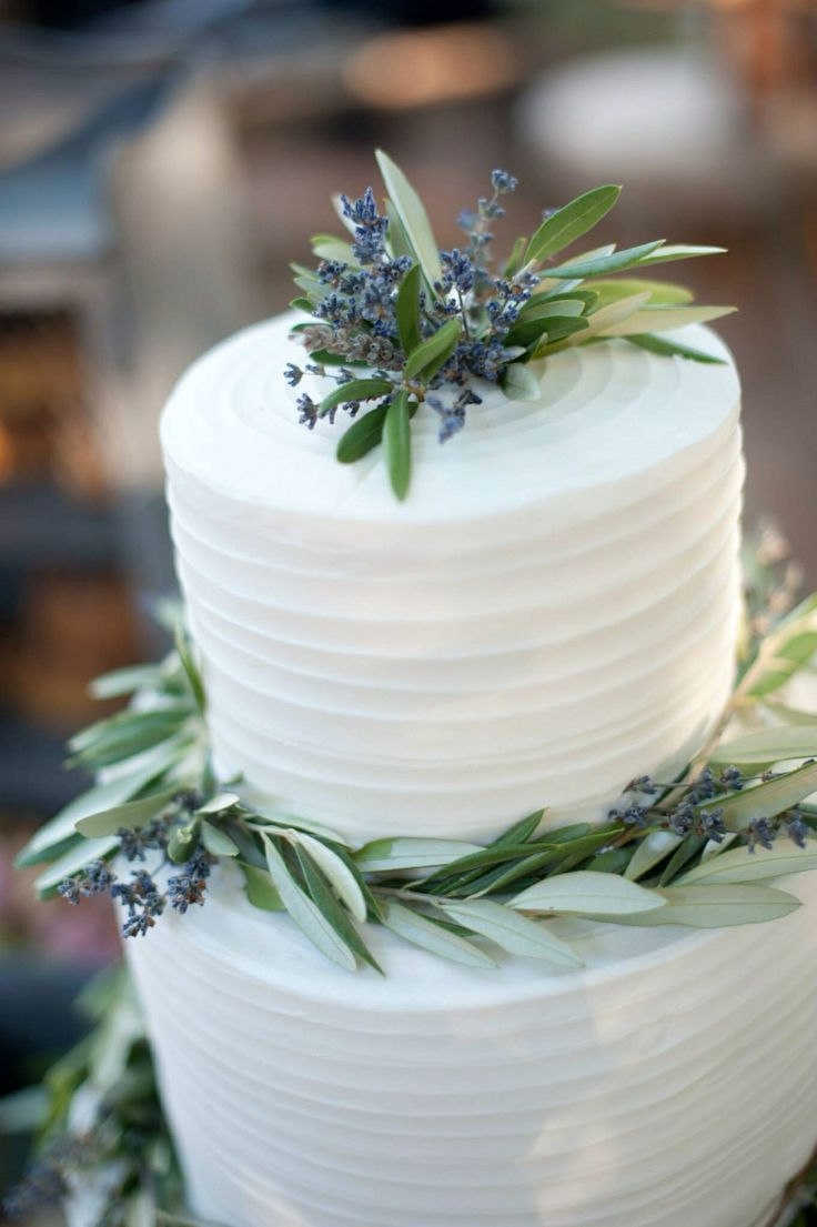 Lavender olive branch wedding cake  One Special Day  Pinterest  Wedding Lavender and Branches
