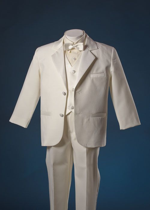 Boys Ivory Cream Tux Tuxedo Suit Pageant Ring Bearer 7  Find  Wedding  Pinterest  Cream