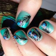 1000 ideas peacock nails