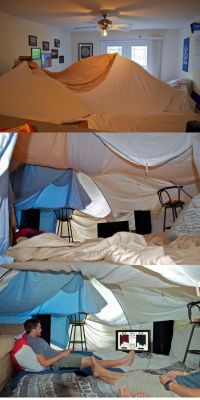 How To Make A Big Blanket Fort - WoodWorking Projects & Plans