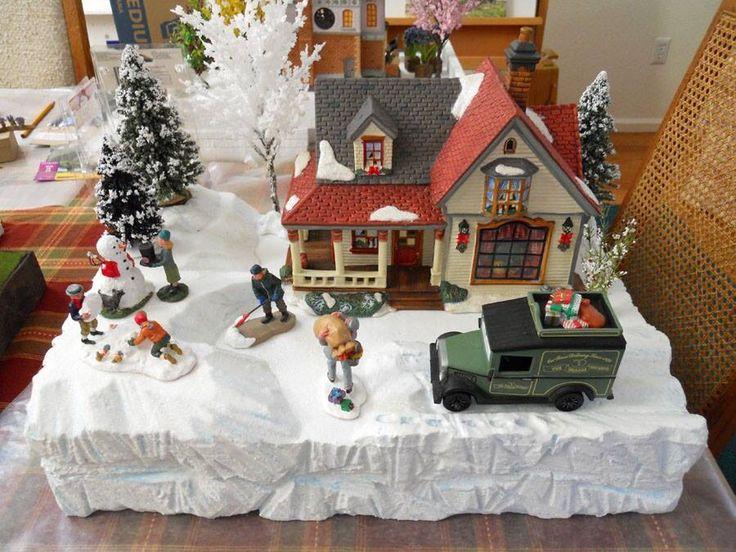 Styrofoam Christmas Village Display Platforms