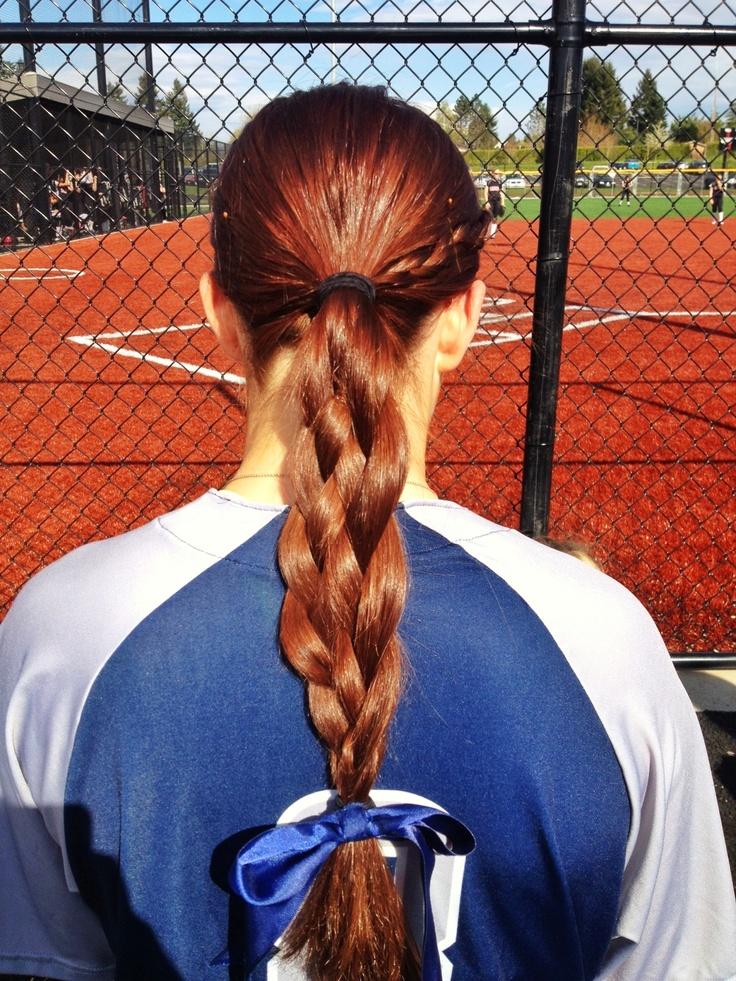 25 Best Ideas About Softball Hair Braids On Pinterest Sport