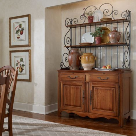 Genevive Bakers Rack Buffet Cabinet Collection Maison