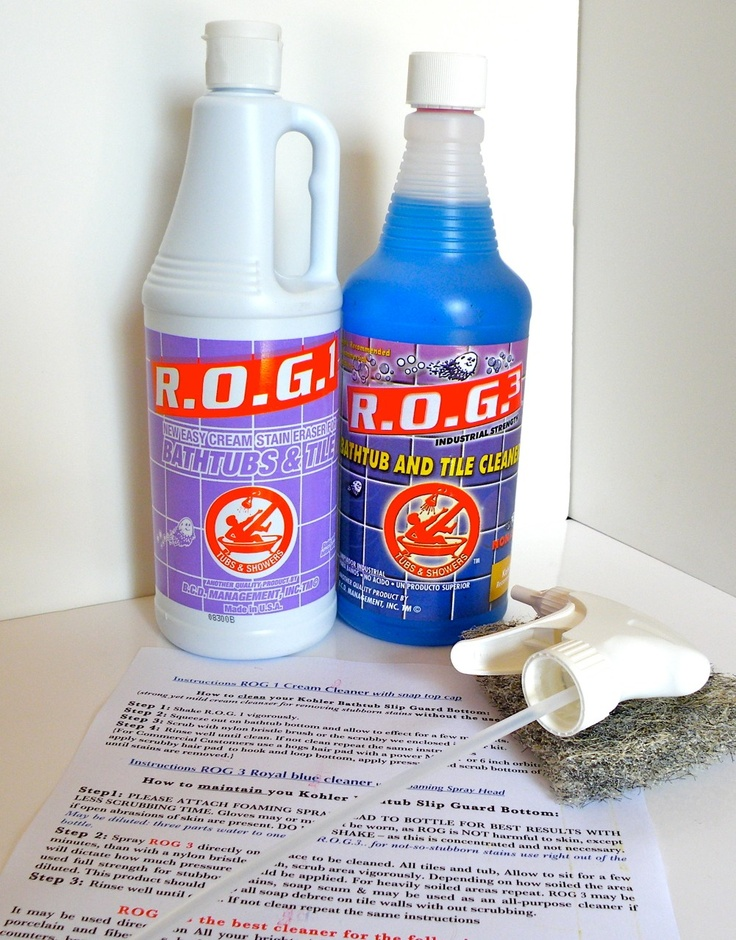 BEST bathtub cleaner yet made for the Kohler company for cast iron and fiberglass tubs the kit