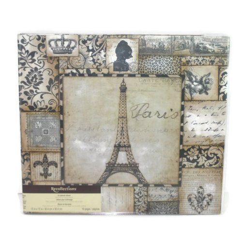 Recollections Scrapbook Album Paris France Eiffel Tower 12 X 12 Inch 10 Pages 20 Layouts