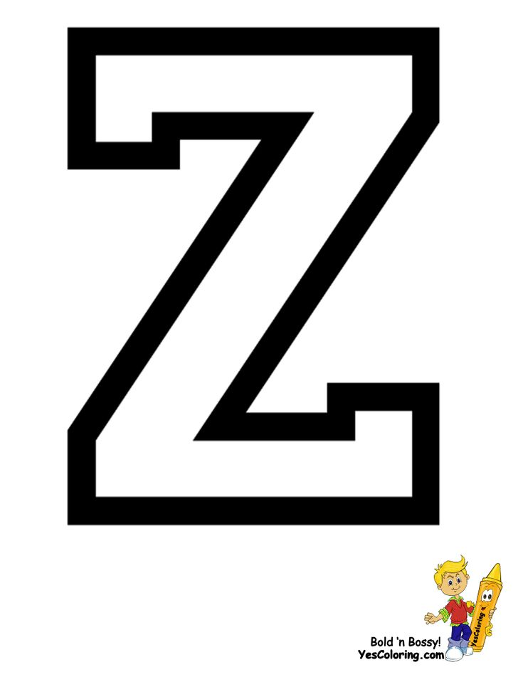 Print Letter Coloring for Z at YesColoring http://www