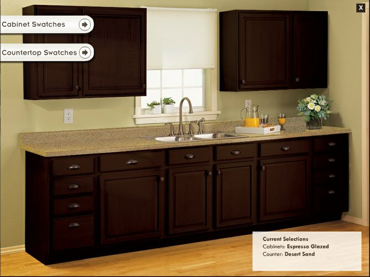 Virtual Tool to mix and match cabinet and counter swatches