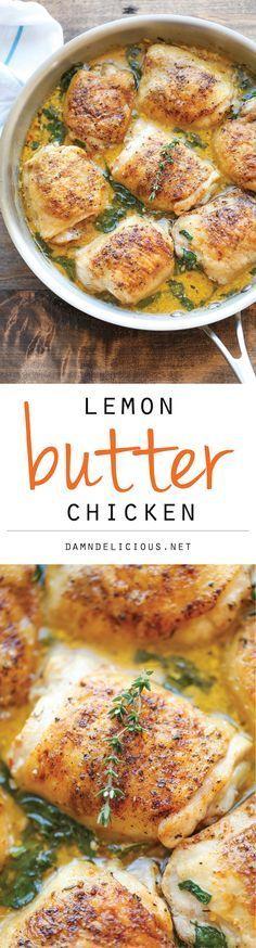 Lemon Butter Chicken – Easy crisp-tender chicken with the creamiest lemon butter sauce ever!