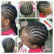 bubble gum flat twists curls