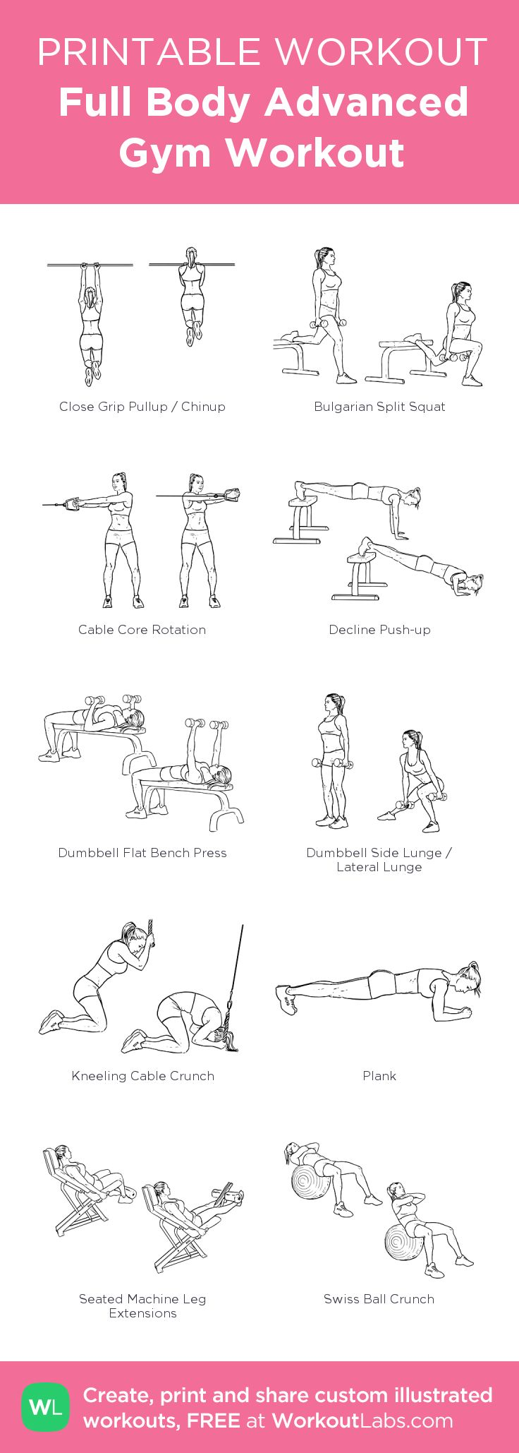 Gym Workout Names List With Pictures Pdf