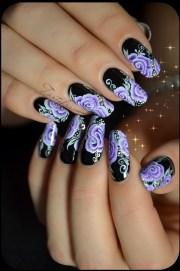 lilac nail design