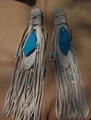 native american hair wrap white