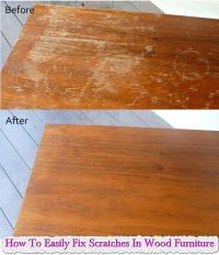 How To Easily Fix Scratches In Wood Furniture | CLEANING ...