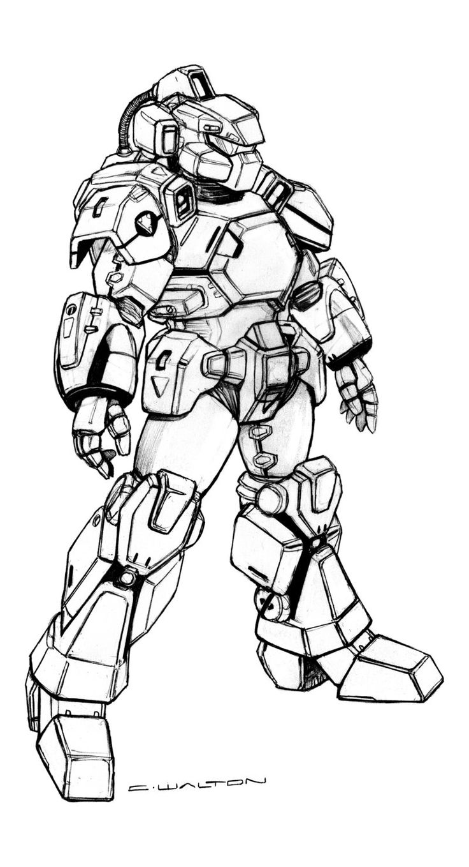 Robotech RPG CVR-2 Space Combat Armor by ChuckWalton