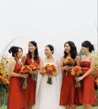 17 Best ideas about Orange Bridesmaids on Pinterest ...