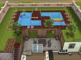 sims freeplay pool cool houses layout designs play layouts building sim pools backyard plans floor beach mansions interior