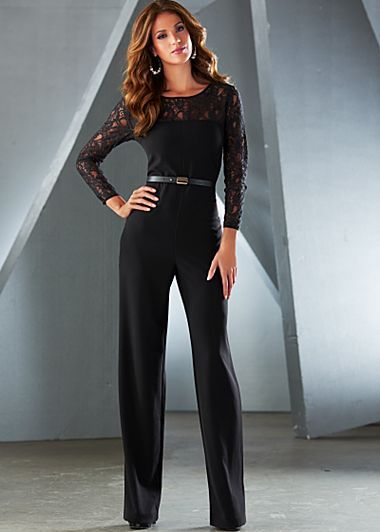 Jumpsuits Lace sleeves and Sleeve on Pinterest