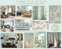Classic duck egg blue living room design