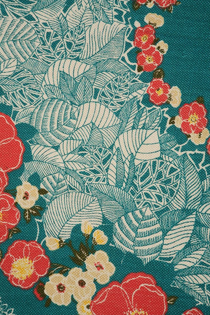 Make Your Own Monogram Iphone Wallpaper Pretty Floral And Leaf Fabric Seafoam Coloured Background