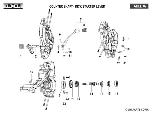 1000+ images about LML Star 4T 200 Scooter Spare Parts on