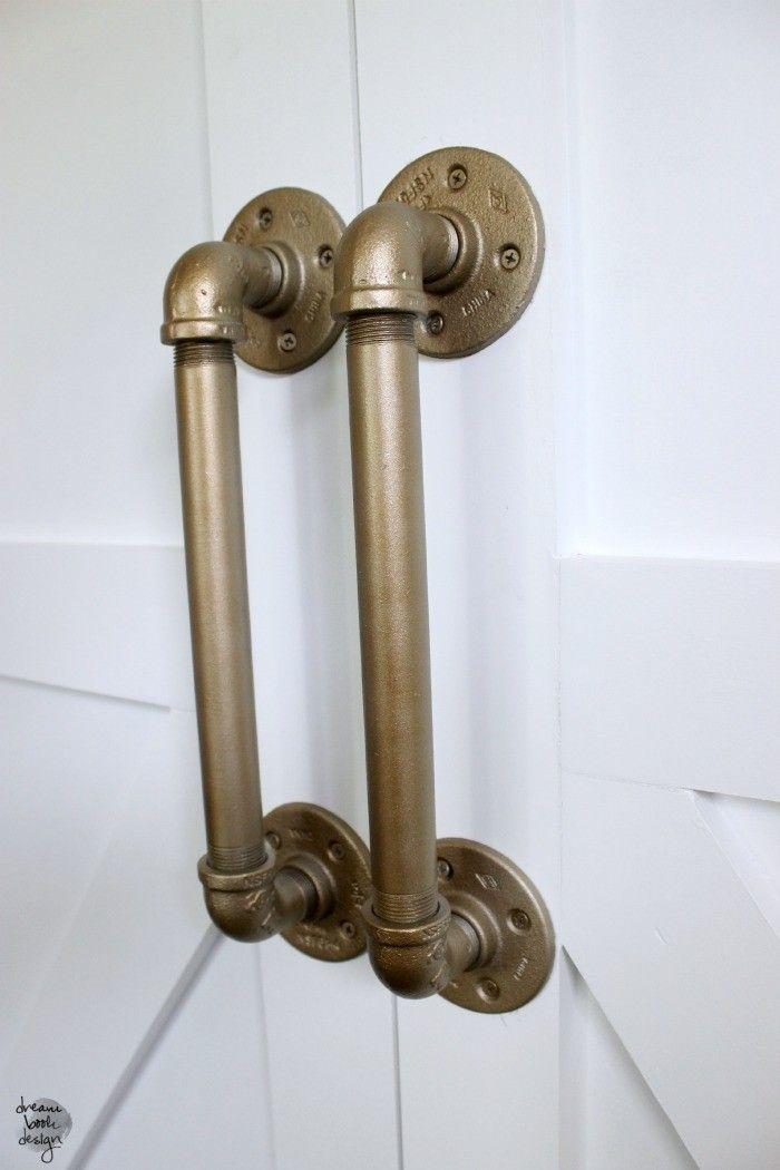 How To DIY An Industrial Pipe Door Handle  Pipes Door