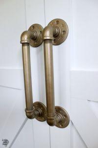 How To DIY An Industrial Pipe Door Handle | Pipes, Door ...