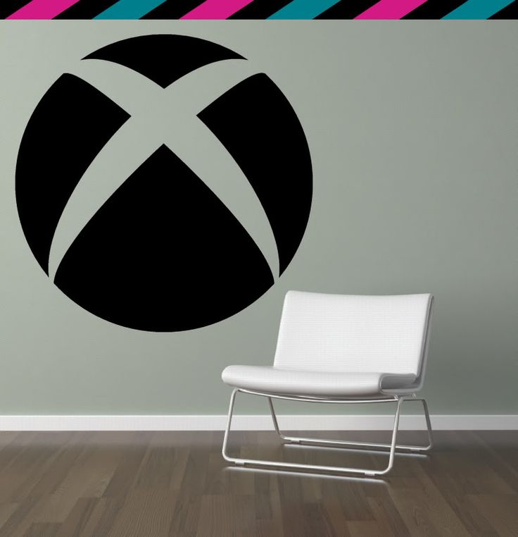Xbox 360 Circle Videogame Console Halo Wall Decal