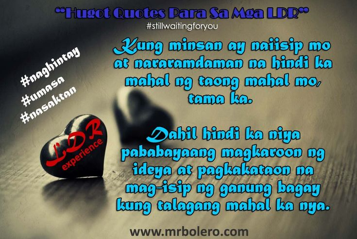 Hugot And Tagalog Relationships About Quotes Love