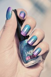 holographic #nails jade