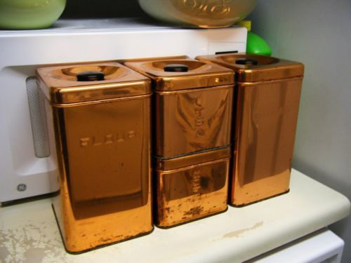 retro kitchen stoves corner table sets vintage lincoln beautyware beauty ware copper tone metal ...
