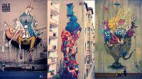 Creative Street Art Wall Murals by Etam Cru | Abstract ...
