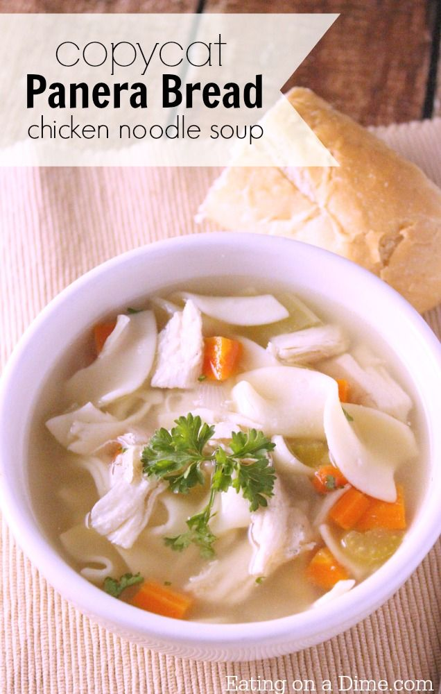 make this copycat panera bread chicken noodle soup recipe it is very