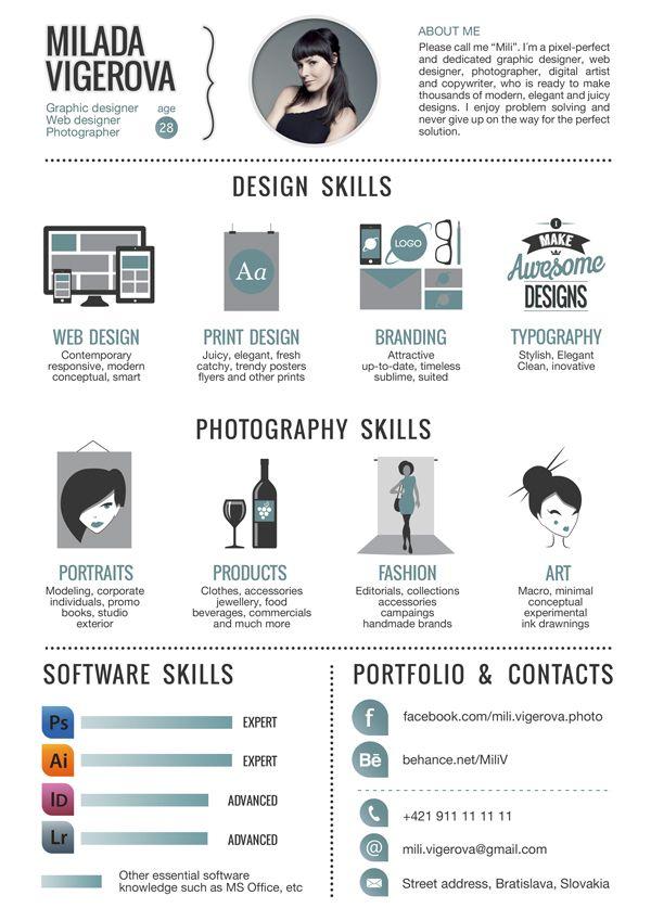 Top 25 Ideas About Graphic Design Cv On Pinterest Cv