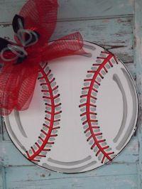 Baseball Door Hanger, Summer Door Hanger, Spring Door ...