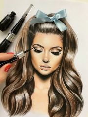 makeup drawing ideas