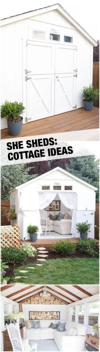 A Cozy Cottage She Shed | Backyard retreat and Dutch doors