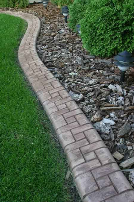 samples of landscape curbing