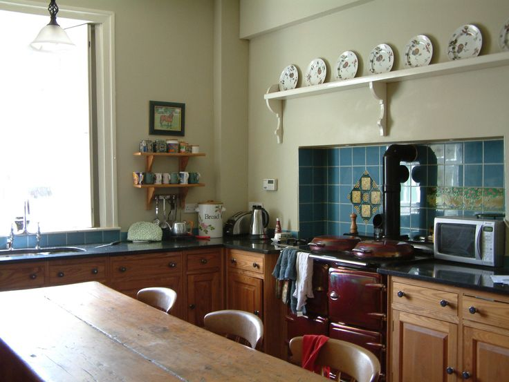 This Original Victorian Kitchen With Glass Window And