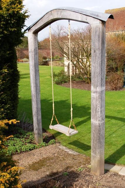 garden swing. Very cool for a yard without big trees. I will take eight of these, please. AHS