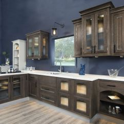 Wellborn Kitchen Cabinets Retro Table Sets This Dark Brown Cabinetry Is Stained With Our ...
