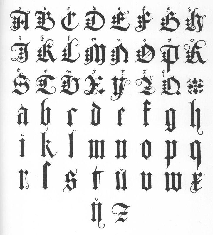 17 Best ideas about Fancy Fonts Alphabet on Pinterest