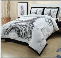 Meet Me in Paris Comforter Set | Paris bedding for college ...