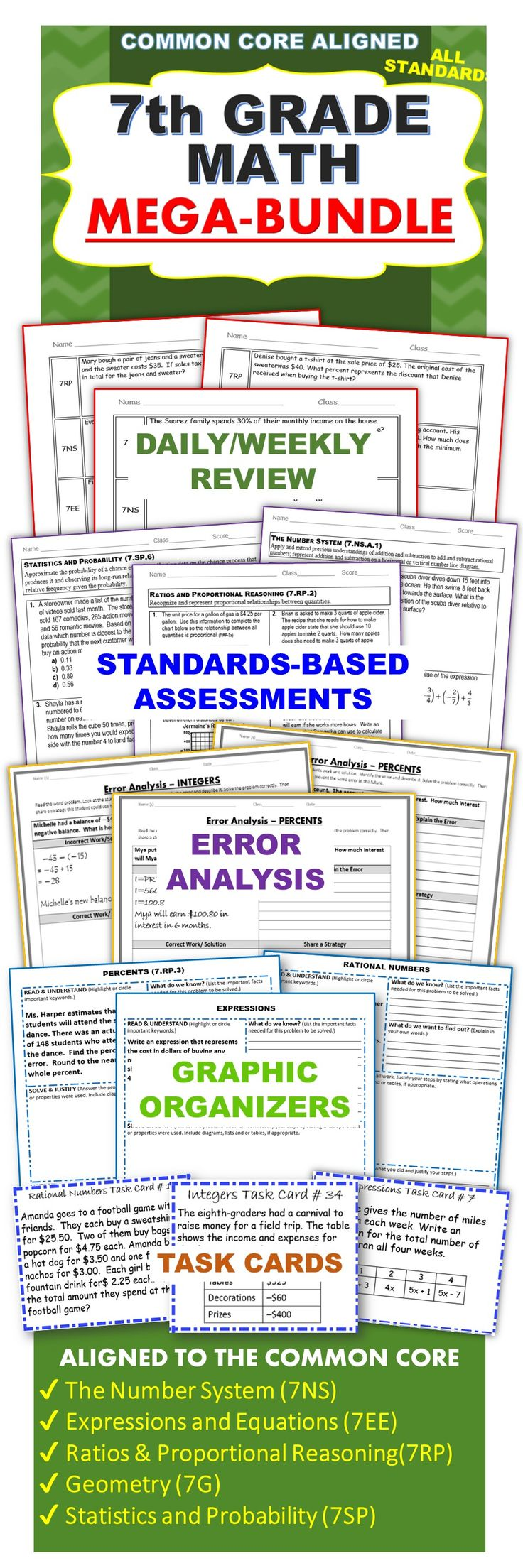 hight resolution of Exceeding the CORE: 7th Grade Math COMMON CORE Assessments