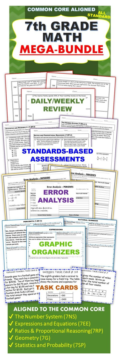 small resolution of Exceeding the CORE: 7th Grade Math COMMON CORE Assessments