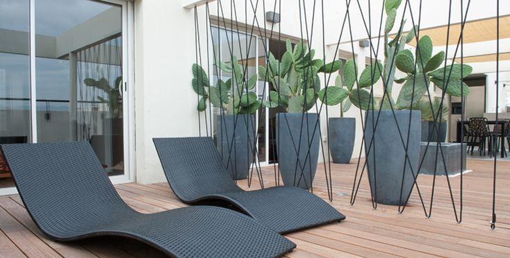 Terrasse contemporaine en centre ville Marseille  Architecte Paysagiste Thomas Gentilini